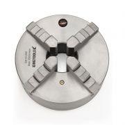 """Placa Para Torno Universal Diâmetro 250mm/10"""" Com 4 Castanhas Monobloco - Corpo Em Aço - Ref. 820.086 - KINGTOOLS"""