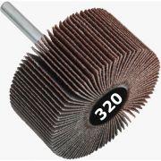 Roda de Lixa Mini PG / Minikontour - Med. 40mm x 25mm - Grana 320 - Grão Especial Quantidade 50 Peças - CONVERTOP