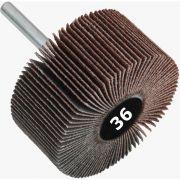 Roda de Lixa Mini PG / Minikontour - Med. 50mm x 25mm - Grana 36 - Quantidade 10 Peças - CONVERTOP