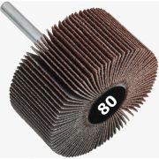 Roda de Lixa Mini PG / Minikontour - Med. 70mm x 25mm - Grana 80 - Quantidade 10 Peças - CONVERTOP