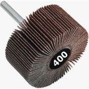 Roda de Lixa Mini PG / Minikontour - Med. 75mm x 25mm - Grana 400 - Grão Especial Quantidade 50 Peças - CONVERTOP