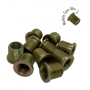 Rosca Postiça Bucha Roscada - M14x1,25 - M18x1,5 - 10 Pçs