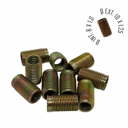 Rosca Postiça Bucha Roscada - M8X1,0 - M10x1,25 - 10 Pçs