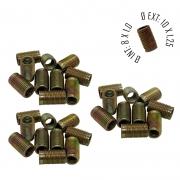 Rosca Postiça Bucha Roscada - M8X1,0 - M10x1,25 - 30 Pçs