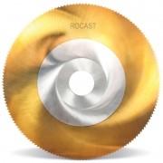 Serra Circular Com Titânio - Med. 100mm X 0,8m - 128 Dentes, Aço Rápido (HSS-Tin) - 253,0072 - ROCAST