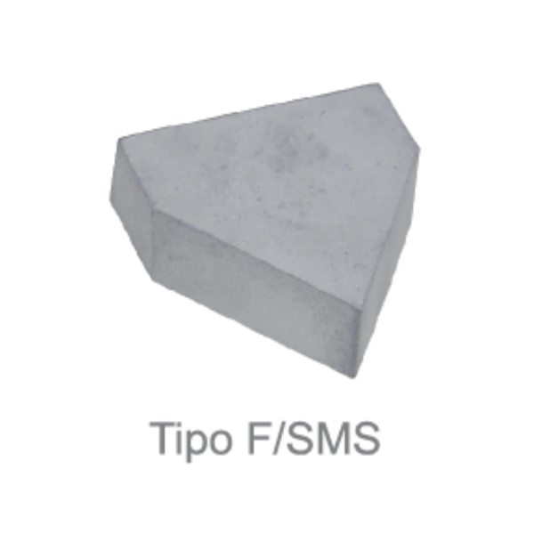 Pastilha de Solda - Metal duro (MD) - Tipo F/SMS10 - Classe P30 - DIN 4950 - HT FERRAMENTAS