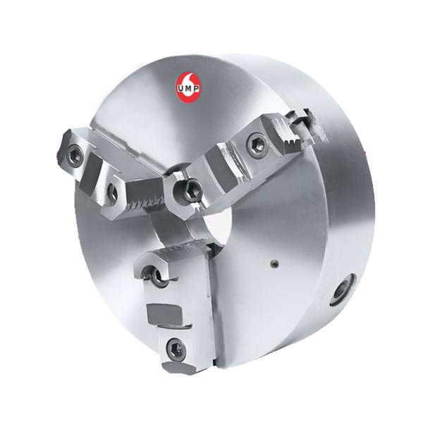 """Placa Para Torno Universal Diâmetro 205mm/8"""" Com 3 Castanhas Sobrepostas Reversíveis - UMP205A-3E - UMP/UNION"""