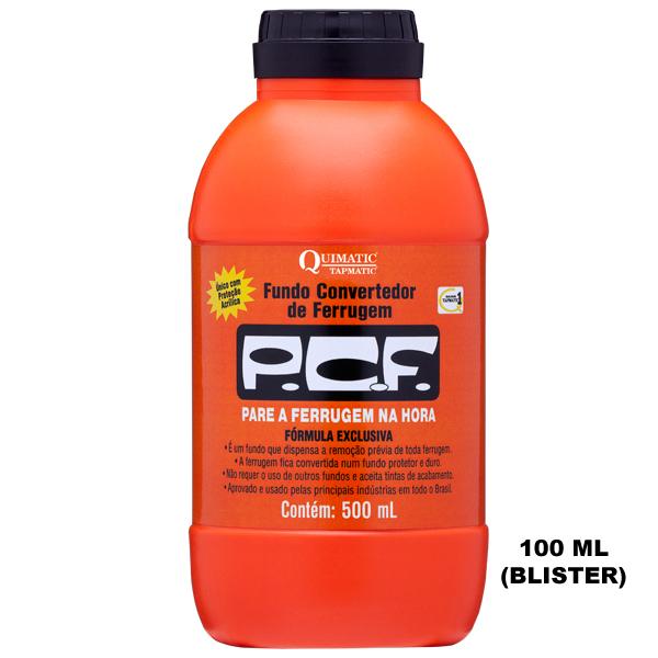 P. C. F. ? Fundo Convertedor de Ferrugem - Embalagem 100 ML (Blister) - QUIMATIC/TAPMATIC