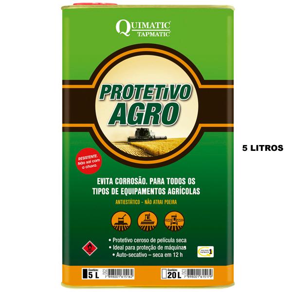Protetivo Agro - Embalagem de 5 Litros - Inibidor de Corrosão para Implementos Agrícolas - QUIMATIC/TAPMATIC