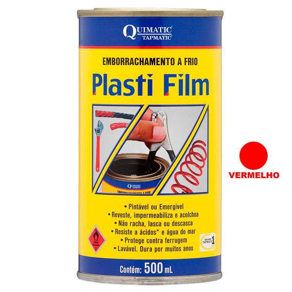 PLASTI FILM ? Emborrachamento a Frio - Lata de 500 ML - VERMELHO - QUIMATIC/TAPMATIC