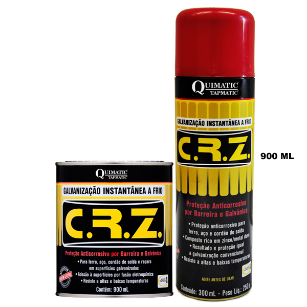 C. R. Z. ? Galvanização Instantânea a Frio - Embalagem 900 ML - QUIMATIC/TAPMATIC