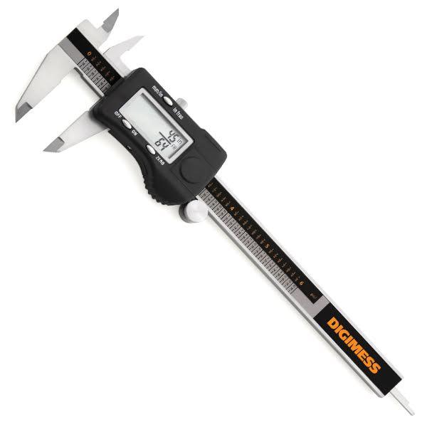 """Paquímetro Digital 3 Em 1 - 200mm/8"""" - Resolução 0,01mm/.0005""""/1/128"""""""