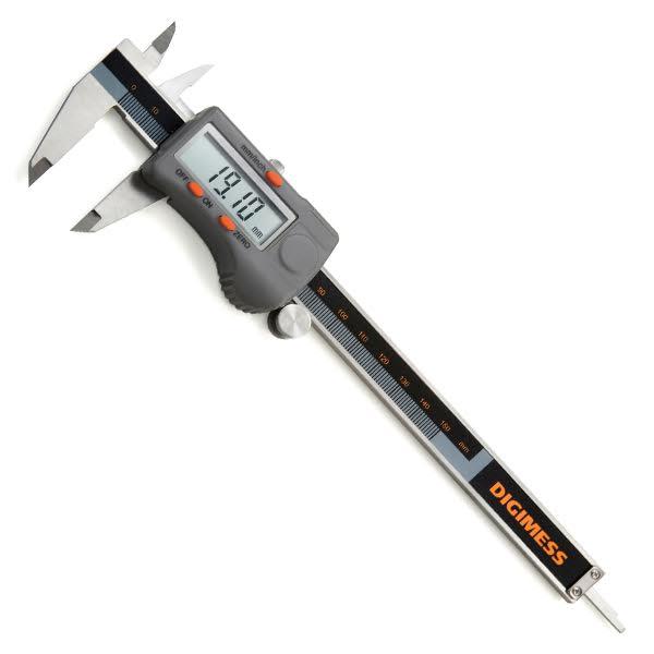 """Paquímetro Digital Com Dígitos Grandes - 200mm/8"""" - Resolução 0,01mm/.0005"""""""