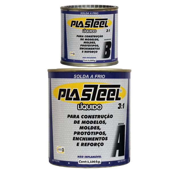 PLASTEEL LÍQUIDO 3:1 - Epóxi bi-componente de baixa viscosidade para preenchimento em cavidades estreitas - Embalagem 1,32 Kg - QUIMATIC/TAPMATIC