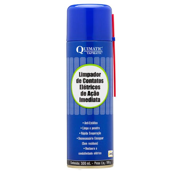 Limpa Contato Elétrico de Ação Imediata - Embalagem 300 ML Aerossol - QUIMATIC/TAPMATIC