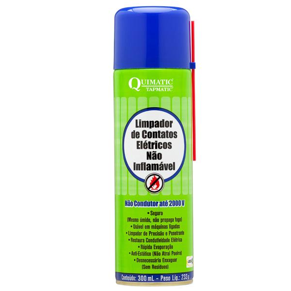 Limpa Contato Elétrico Não Inflamável - Embalagem 300 ML Aerossol - QUIMATIC/TAPMATIC