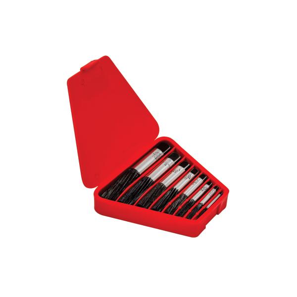 Saca Parafusos Ades - Medida 3,8 a 13,5mm - Jogo com 6 Peças em Estojo Plástico