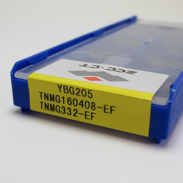 Inserto Pastilha TNMG 160408-EF YBG205 (INOX) - Caixa com 10 Peças - ZCC-CT