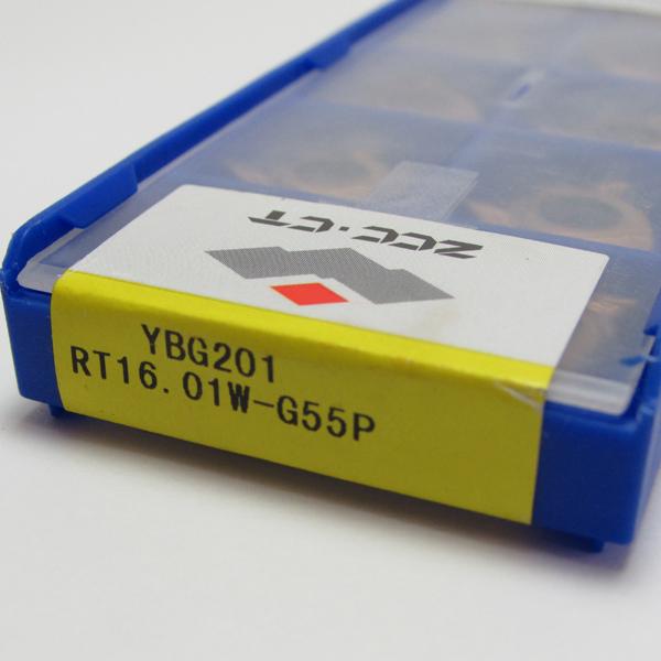 Inserto Pastilha de Rosca 16 Externa 55º - RT16.01W-G55P YBG201 - Caixa com 10 Peças - ZCC-CT