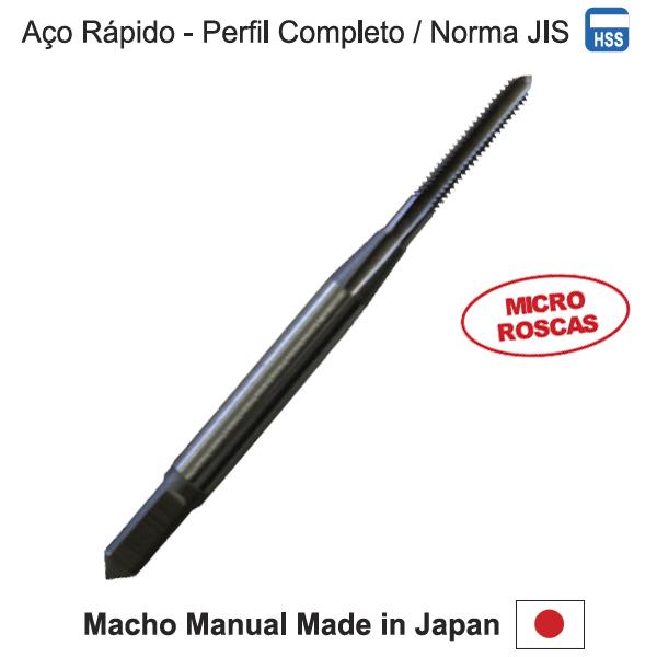 Micro Roscas - Made In Japan - Aço Rápido Hss M 1,6 X 0,35 - Perfil Completo - Norma JIS - OSG