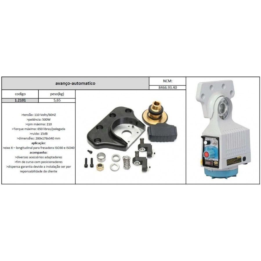 Avanço Automático Fresadora 0 A 210 Rpm Eixo X