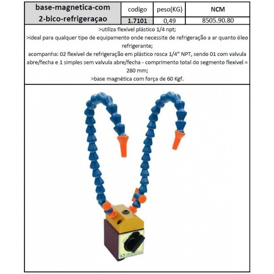 Base Magnética Com 2 Bicos Refrigeração - JG TOOLS