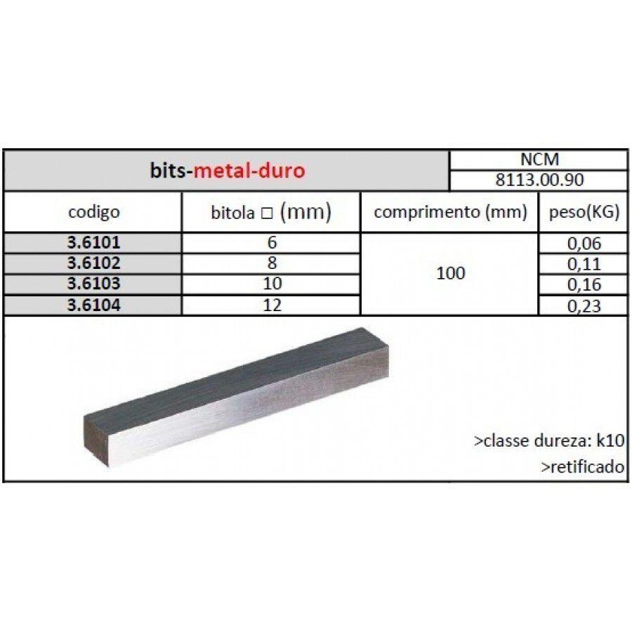 Bits Metal Duro 08 Mmx100 K10 - JG TOOLS