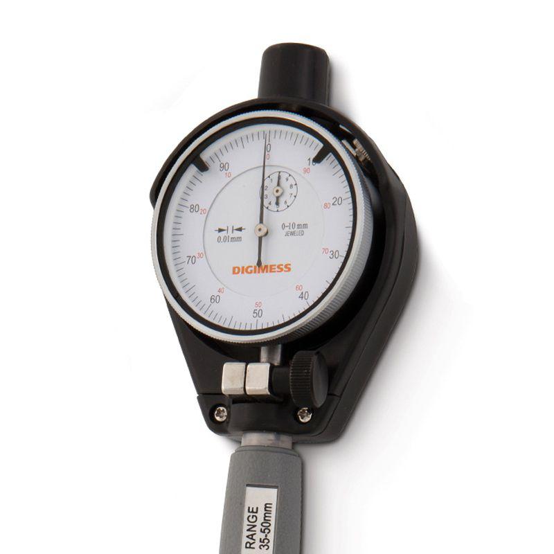 Comparador De Diâmetros Internos Com Espaçadores Metal Duro (Súbito) - Cap. 18-35 mm - Graduação De 0,01mm - Haste 125mm - Ref. 130.558 - DIGIMESS