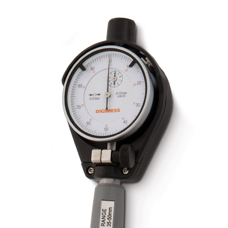 Comparador De Diâmetros Internos Com Rosca Metal Duro (Súbito) - Cap. 50-160 mm - Graduação De 0,01mm - Haste 150mm - Ref. 130.562 - DIGIMESS