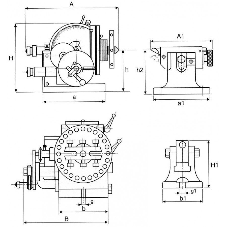 Divisor Semi Universal Modelo BS-0 com Contra Ponto - JG TOOLS