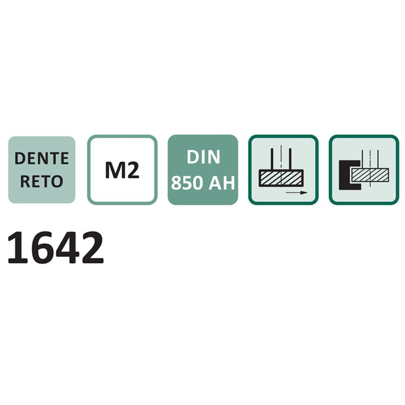 Fresa para Rasgo de Chaveta Haste Cilíndrica, Dentes Retos Tipo WOODRUFF - Med. 22,5 x 5,0mm - DIN 850 AH - Cód. 1642 - INDAÇO