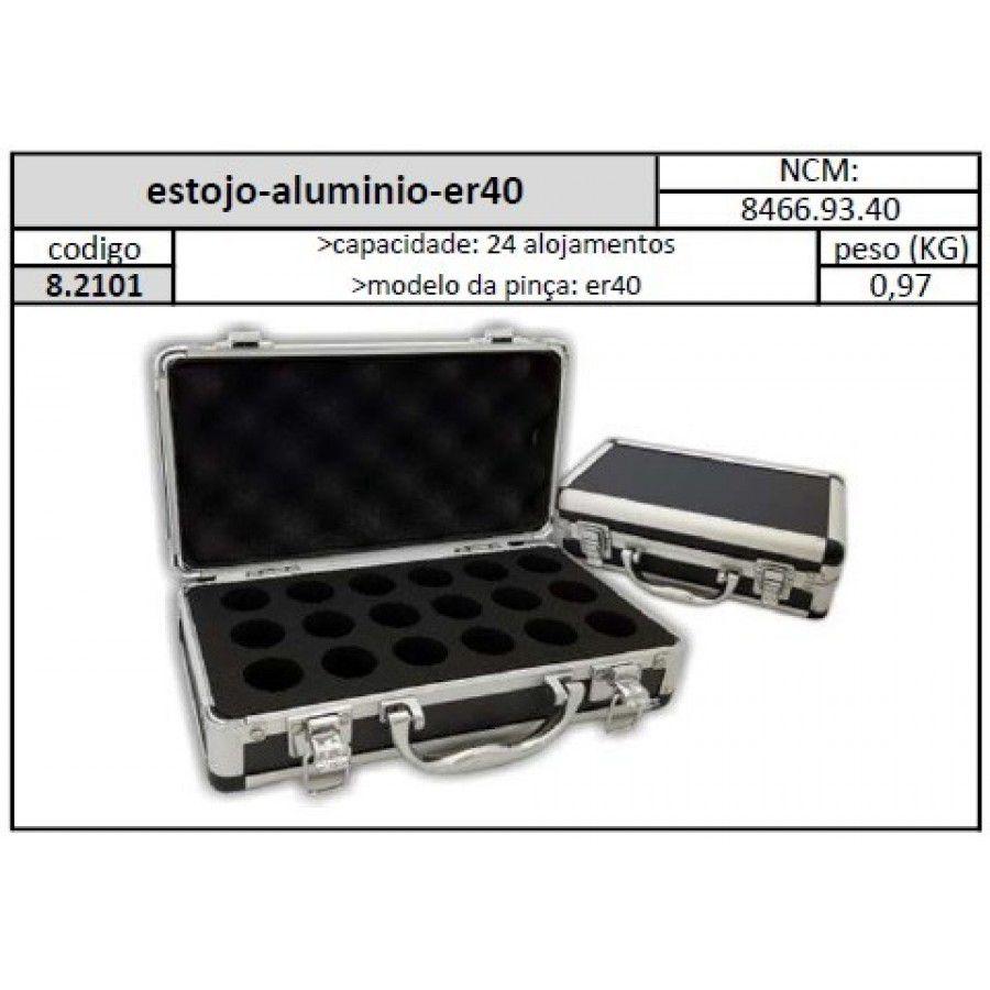 Estojo Alumínio ER40 24 Alojamentos - JG TOOLS