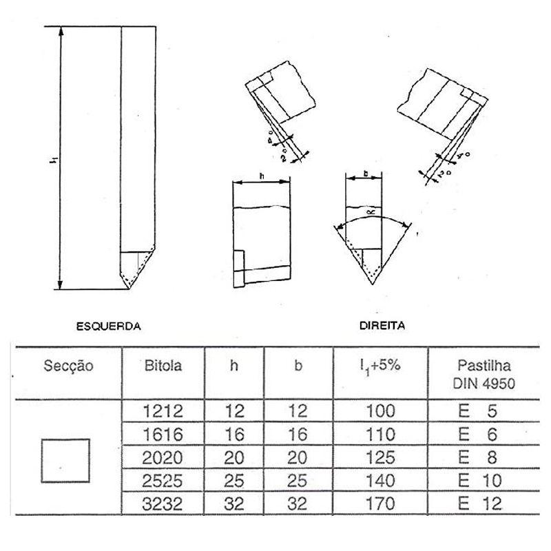 Ferramenta Soldada Para Rosquear Externo FRE - 1010 D P30