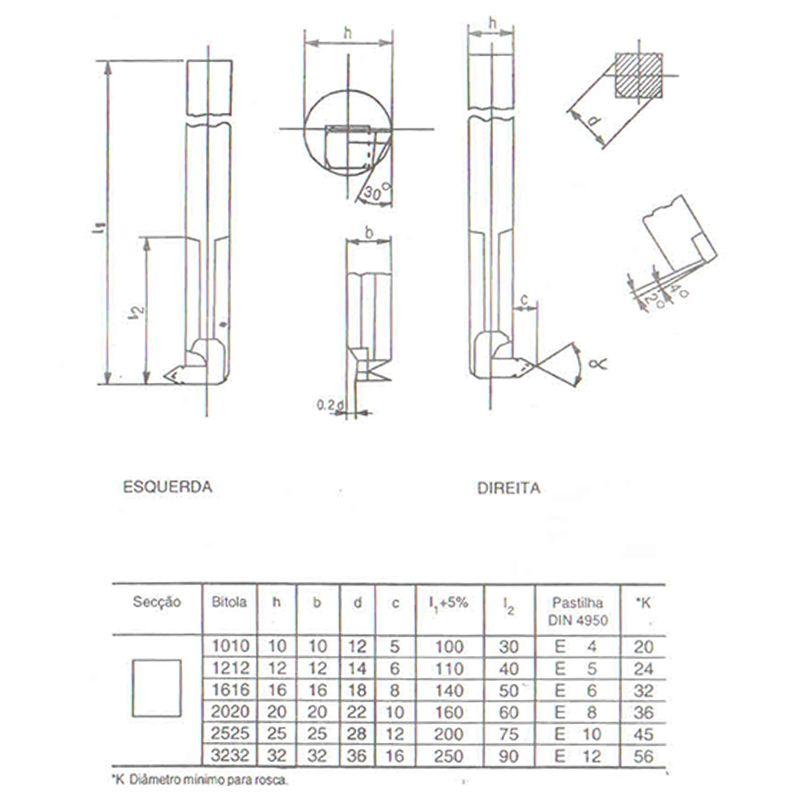 Ferramenta Soldada Para Rosquear Interno FRI - 0808 D P30 - JG TOOLS