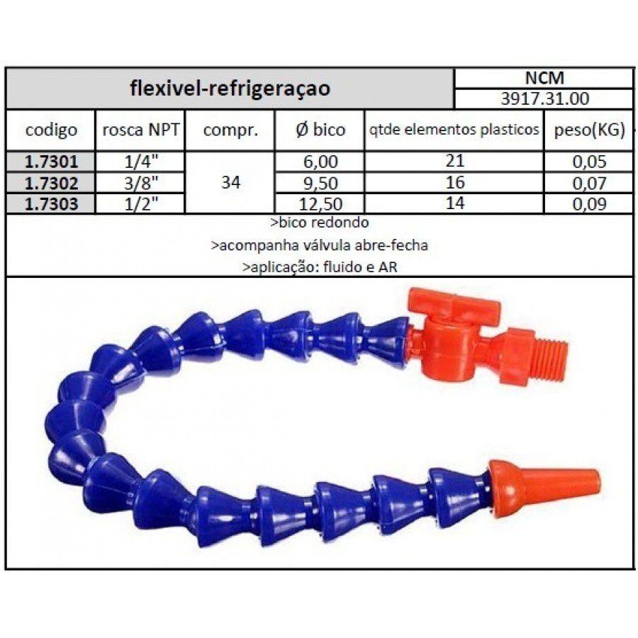Flexível Para Refrigeração Med. 1/4 X 300mm