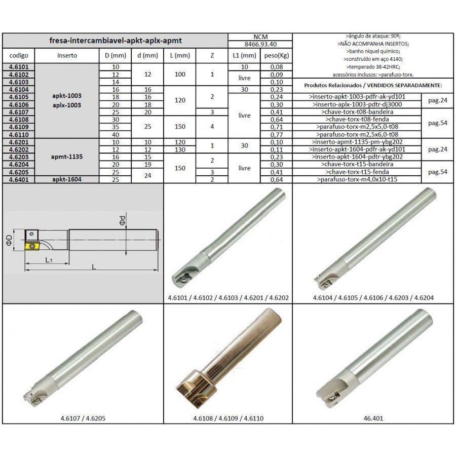 Fresa Aplx 1003 De 16 mm - JG TOOLS