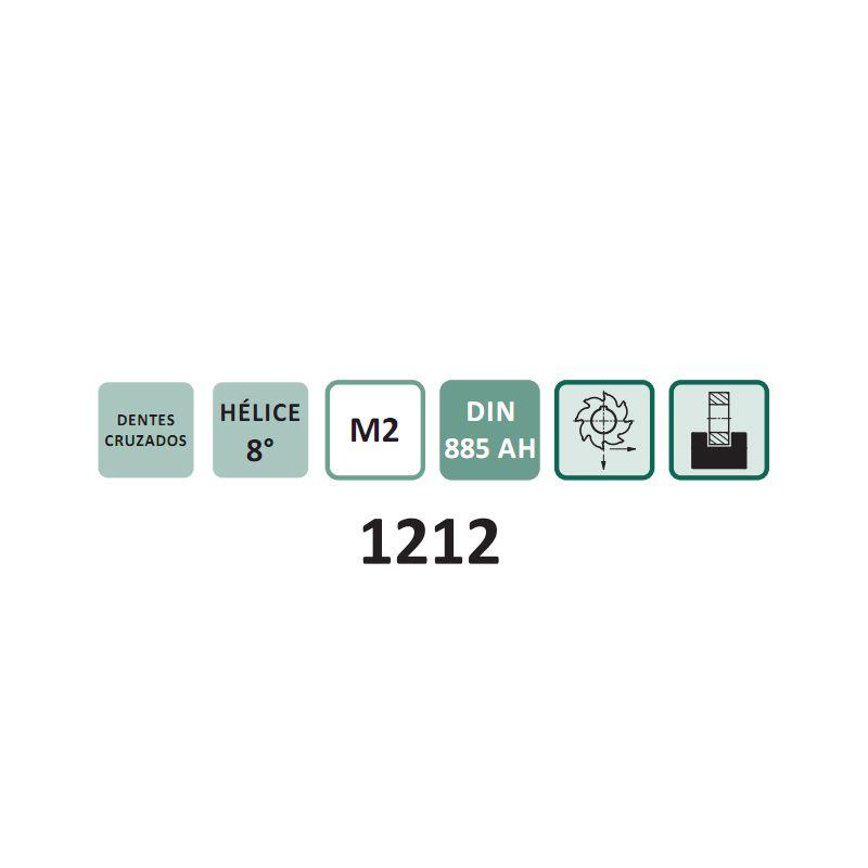 Fresa Circular, Corte 3 Lados, Dentes Cruzados e Alternados - Med. 50 x 6 x 16mm - DIN 885 AH - Aço M2 - INDAÇO