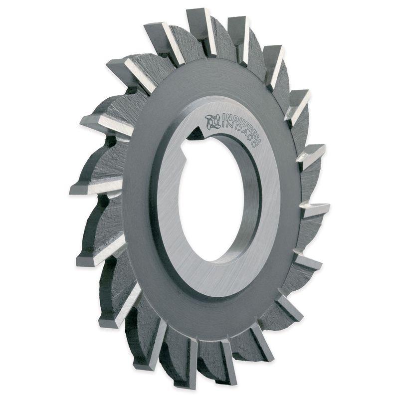 """Fresa Circular, Corte 3 Lados, Dentes Retos - Med. 3 x 3/8 x 1"""" - DIN 885 B H - Aço HSS (M2) - INDAÇO"""