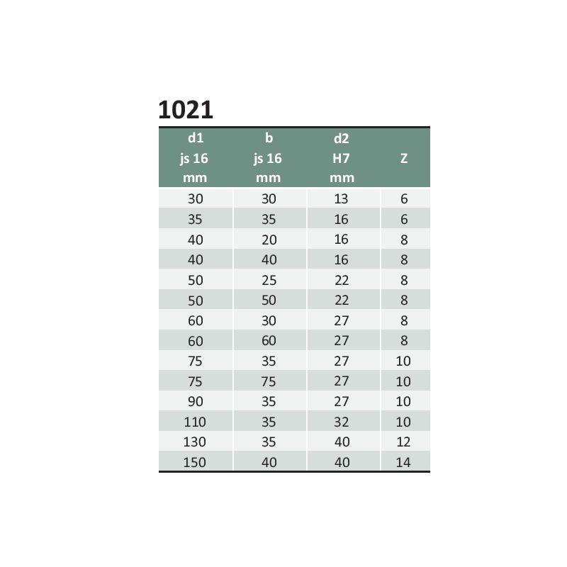 Fresa de Topo para Mandril, Chaveta Longitudinal - Med. 50 x 50 x 22 - DIN 841 N - Aço M2 Corte à Direita e Hélice à Direita - INDAÇO