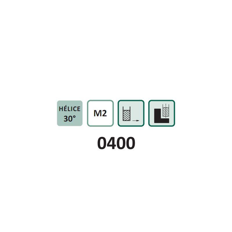 Fresa de Topo Reto INDULINE 0400 - Med. 4mm - 4 Cortes - Semelhante DIN 844 AN - Aço HSS (M2) - INDAÇO
