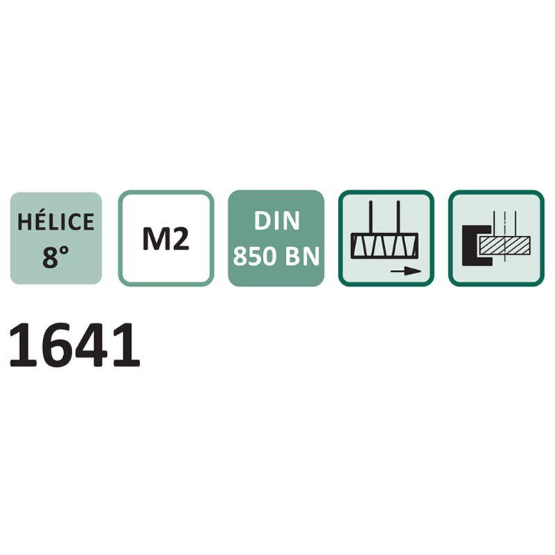 Fresa para Rasgo de Chaveta Haste Cilíndrica, Dentes Cruzados Tipo WOODRUFF - Med. 16,5 x 4,0mm - DIN 850 BN - Cód. 1641 - INDAÇO