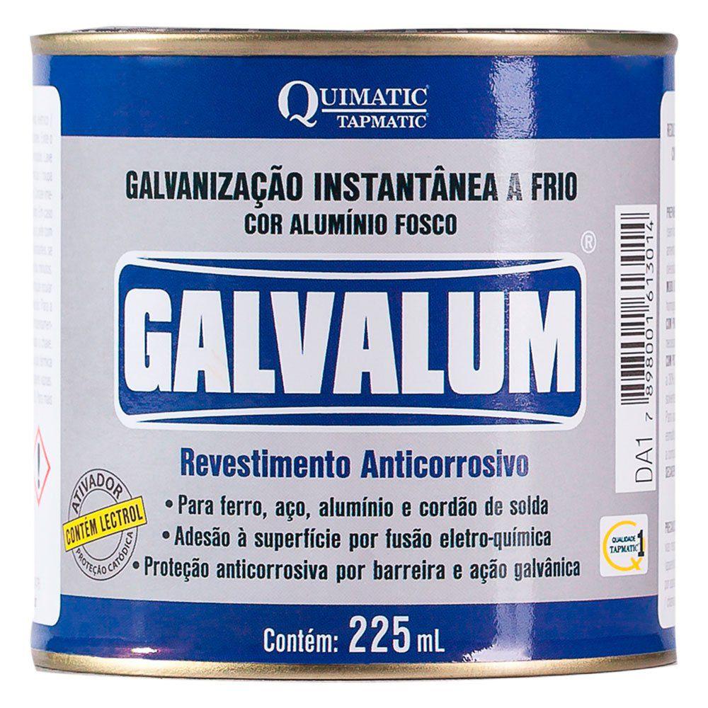 GALVALUM - Galvanização Aluminizada a Frio - Embalagem 225 ML - QUIMATIC/TAPMATIC