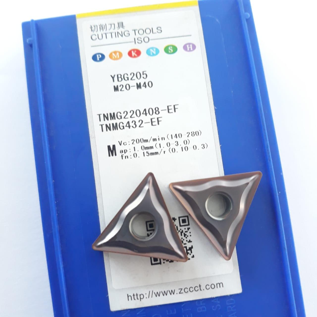 Inserto Pastilha TNMG 220408-EF YBG205 (INOX) - Caixa com 10 Peças - ZCC-CT