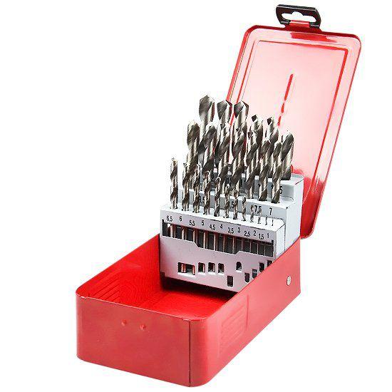 Jogo de Brocas Helicoidais 1,0 a 13,0mm - 25 Peças