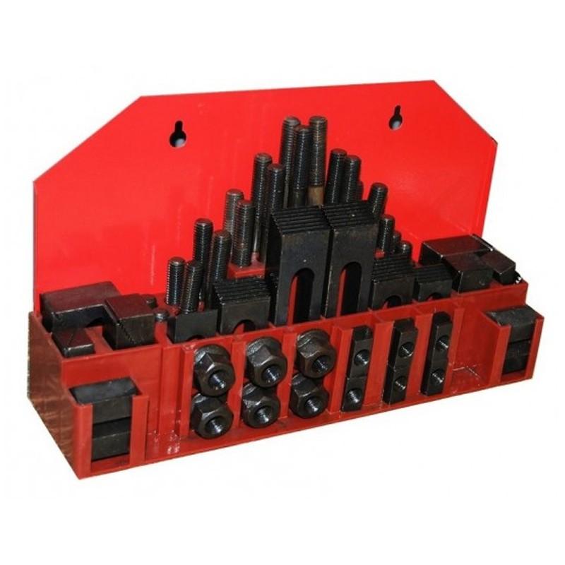 Jogo De Presilha Para Fixação M16  - Canal 18mm com 58 Peças