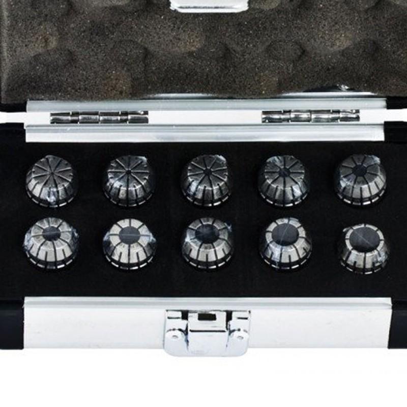 Jogo Pinças ER16 com 10 Pçs - Cap. 1 a 10 mm