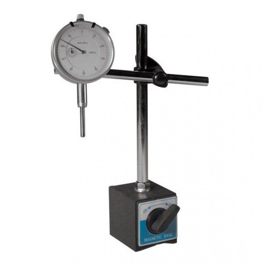 Kit Base Magnética e Relógio Comparador De 0 A 10mm