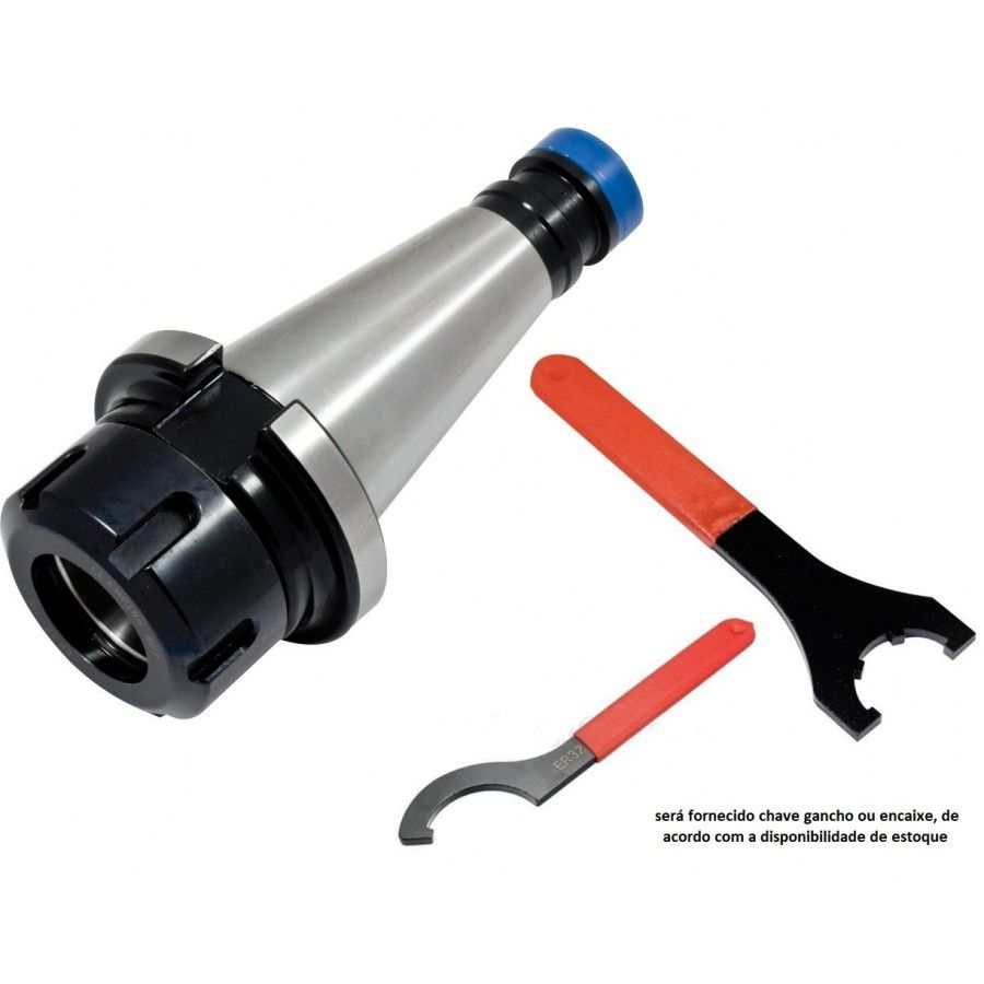 Kit Porta Pinças ER32 ISO40 Chave - JG TOOLS
