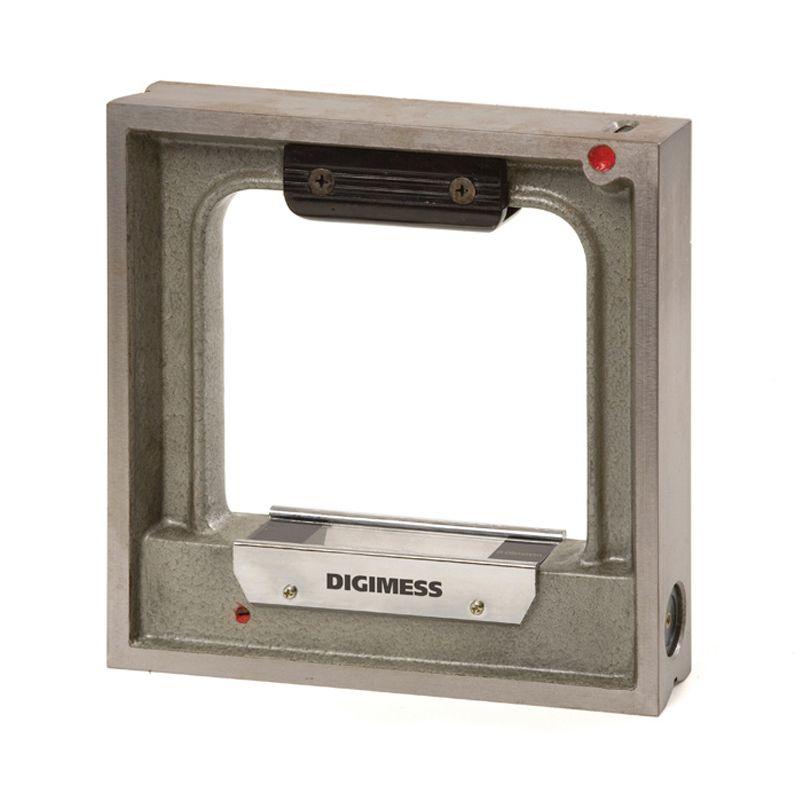 Nível Quadrangular De Precisão - Dimensões 150 x 150mm - Sensibilidade 0,02mm/m - Exatidão ± 0,01mm/m - Ref. 272.202-2 - DIGIMESS