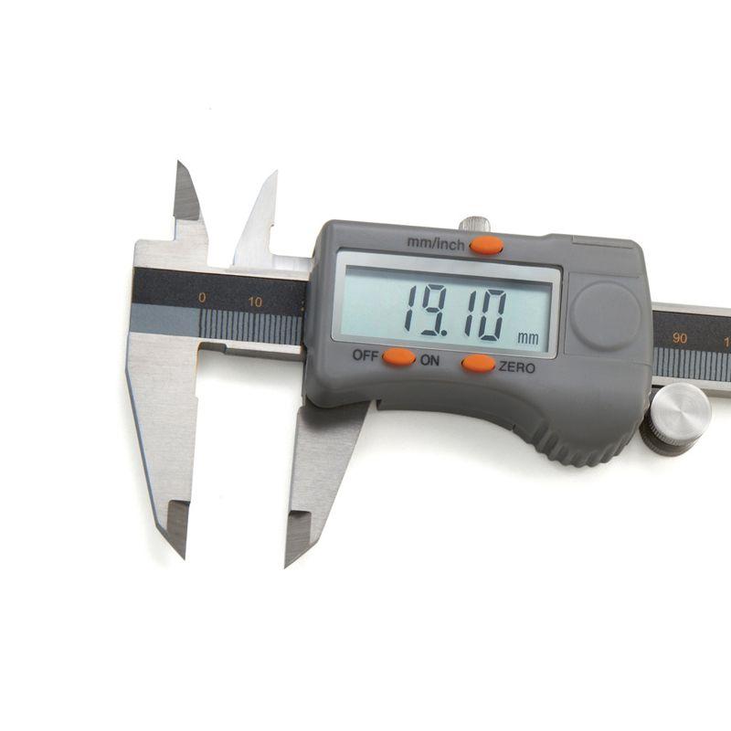 """Paquímetro Digital Com Dígitos Grandes - 150mm/6"""" - Resolução 0,01mm/.0005"""""""